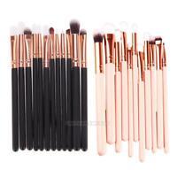 UN3F New 12Pcs Rose Gold Makeup Brush Set Eyeshadow Eye Brushes Tool
