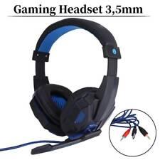 Gaming Headset Kopfhörer mit Mikrofon Over-Ear Blau für Laptop PC SUPER