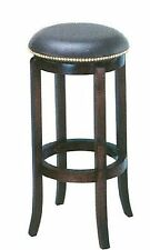 "24 ""  Nailhead Leather Wood Swivel Barstool Bar Stool Counter"