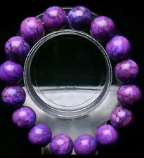 300 Carat Naturall Stone Sugilite 14mm Big Bead Bracelet Bangle 59 Grams Fushia