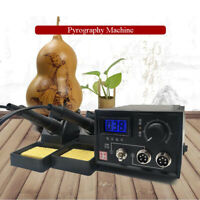 Wood Burning Pen Pyrography Machine Electric Iron Digital Display Craft Tool Kit