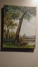 Sweet Cow lying in meadow Oil Paintingunsigned