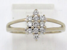 Cluster Right Hand Ring .55ct 14k White Gold Round Diamond
