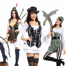 Polyester Complete Outfit Pirate Costumes