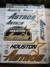 Houston Astros MLB Reusuable Static Window Color Clings 1996 Genuine Throwback