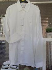 Lacoste Shirt WHITE , White Crocodile Brand New RRp £120 slim fit fr40 us m