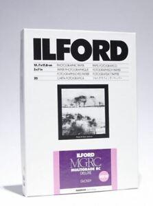 "Ilford Multigrade RC Deluxe Glossy Black White Film Photo Paper 5x7"" 25 Sheets"