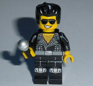 MUSICIAN Lego Elvis Viva Las Vegas Black Jacket w/Microphone Genuine Lego parts