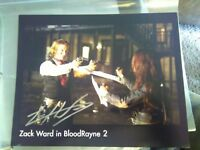 Zack Ward BloodRayne 2 8x10 signed photo autographed