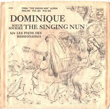 SINGING NUN--PICTURE SLEEVE + 45--(DOMINIQUE)---PS---PIC---SLV