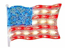 """Impact 15"""" Lighted Patriotic Fourth of July American Flag Window Silhouette"""