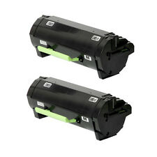 2 Pk Lexmark MX511dhe MX511de MX510de MX410de MX310dn Black Toner 601H 60F1H00 +
