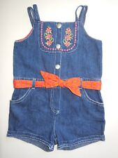 BABY INFANT TODDLER GIRL SHORTALLS OVERALLS SHORTS ONE PIECE SIZE 1 *LIKE NEW