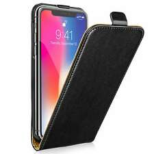 Black real leather Flip case for iPhone 5/5s/SE/6S/7G/8G/7+PLUS/8+PLUS/ X/XS/XR