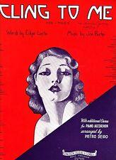 Cling To Me Chorus Pietro Deiro 1935 Vintage Accordion Sheet Music