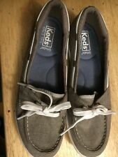 650c498d Keds Womens Glimmer Ortholite Memory Foam Boat Shoes size 7.5 grey/brown