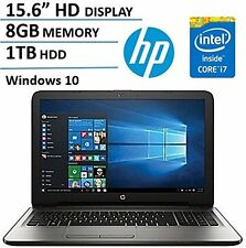 "New HP 15.6""HD Intel 7th Gen. i7-7500U 3.5GHz 8GBDDR4 1TBHDD DVDRW HDMI W10H 1Yr"
