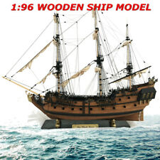 1: 96 3D Wooden Nautical Ship Model Kit Sailboat DIY Home Decor Sailing Boat