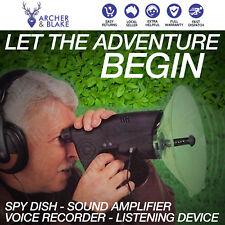 Spy Dish Sound Amplifier Voice Recorder Animal Bird Watching Listening Device