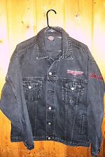 HARLEY - DAVIDSON MOTORCYCLE cotton JACKET size M  3-PATCHES BUTTONS LOOK-C