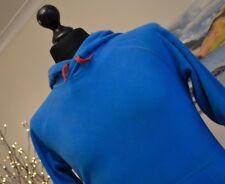 "QUECHUA Blue Mens Micro Fleece Base Layer Hood Sz. Small 38"" chest Electric Blue"
