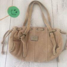 🌸 Ugg Australia Real Suede Leather Bag Handbag Shoulder Medium Beige Ivory