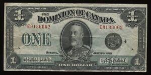 Dominion of Canada $1, 1923 DC-25o, group 4. Fine+ Condition