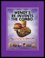 2004 Wendy's Combo Meal 11x14 Framed ORIGINAL Vintage Advertisement