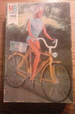 Vintage 1974 Barbie Puzzle/Complete 108 piece Barbie on Bicycle Puzzle/1974 Mb