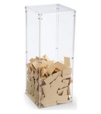 Clear Plexiglass Acrylic Donation Box Fund Raising Stand Display Tithing Box