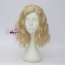 Lolita Light Blonde 35CM Curly Lady Popular Cosplay Party Wig Heat Resistant