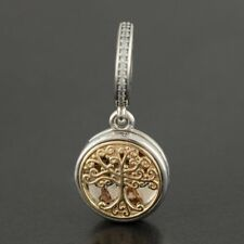 Authentic Genuine Silver Family Roots Locket Charm