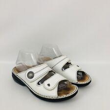 Finn Comfort Womens Size 39 US 8-8.5 Sansibar White Leather Double Strap Sandals