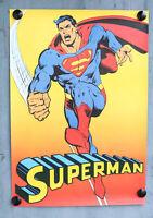 Superman Poster 1974 EHAPA National Periodical Publications Plakat Batman