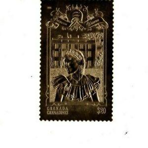 Grenadines 1998  - Princess Diana Memorial / Gold - Single stamp  - MNH