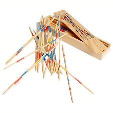 Jeu du Mikado - Jeu de société micado dans boîte en bois 19 cm - Cadeau original
