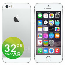 APPLE IPHONE 5S 32GB iOS 9 ORIGINALE SILVER BIANCO ACCESSORI GARANZIA + CORRIERE