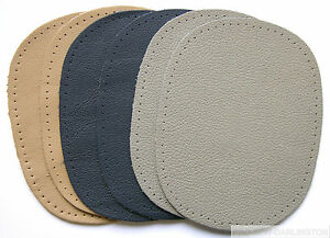 2 x NAPPA LEATHER ELBOW KNEE SEW ON REPAIR PATCHES ( CHOICE OF 6 COLOURS )