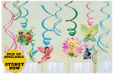 Tinker Bell Hanging Swirls Birthday Party Decorations Pack of 12