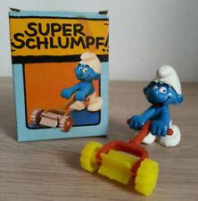 SUPER SMURF SCHTROUMPF TONDEUSE A GAZON 40225 Schleich NEUF COMPLET