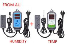 AU PLUG Digital Temperature  + Humidity  Controller Hygrometer thermostat heater