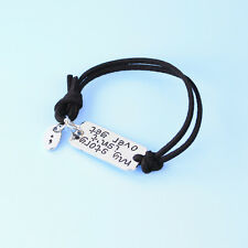 Fashion Bracelet Bangle Jewelry Semicolon My Story Isn't Over Black Yet Leather