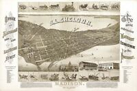 MAP MADISON WISCONSIN 1885 VINTAGE LARGE WALL ART PRINT POSTER PICTURE LF2593