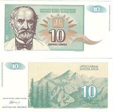 Yugoslavia 10 Dinara 1994 P-138 NEUF UNC Uncirculated Banknote