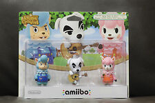 Nintendo Amiibo Animal Crossing Triple Pack Cyrus Keke For Wii 3DS Free Shipping