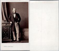 Levitsky, Paris, Homme en pose, circa 1870 CDV vintage albumen -  Tirage album
