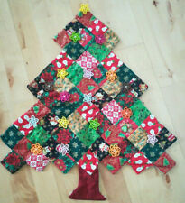 Stunning Christmas Quilted Christmas Tree Decoration Hanging Fabric Applique