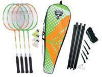 Badminton Spielset Federball Erwachsenen Schläger Netz Ball Spiel Freizeit Sport