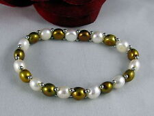 Fresh Water Pearl Stretch Beaded  Bracelet CAT RESCUE