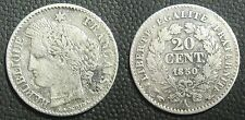20 centimes 1850 A - CERES - III° REPUBLIQUE - Argent